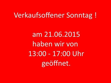 Verkaufsoffener Sonntag 21.06.2015 | Mennetic Design | Scoop.it