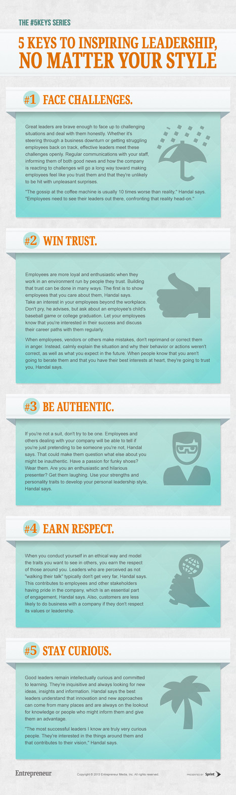 5 Keys to Inspiring Leadership, No Matter Your Style [Infographic] | Employee Engagement Made Easy! | Scoop.it