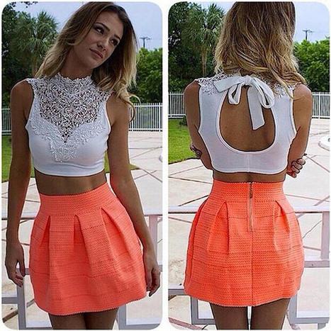 FINEJO Women Lace Crop Top Sleeveless Vest Cut Out Bra Bustier Tank Bralet   Summer clothes   Scoop.it