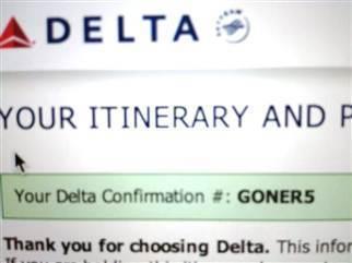 Airline Passenger's Confirmation Number: GONER | Funny Stuff From Alabama | Scoop.it