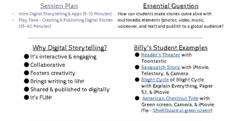 Digital Storytelling & App Smashing with Billy Corcoran | idevices for special needs | Scoop.it