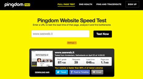 Speed Test Tool: quanto è veloce il tuo sito web? | seeweb | Scoop.it