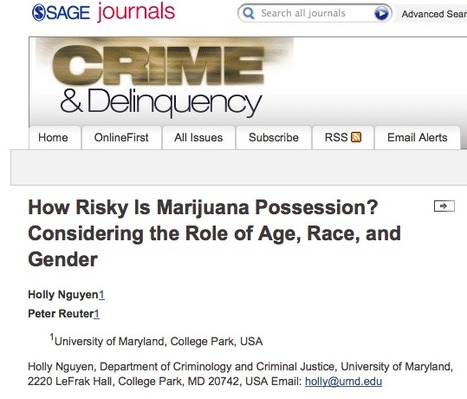 How Risky Is Marijuana Possession? Considering the Role of Age, Race, and Gender   Drugs, Society, Human Rights & Justice   Scoop.it