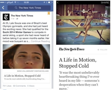 Facebook's new 'Instant Articles' let you share directly to Twitter and Pinterest | Next Generation | Scoop.it