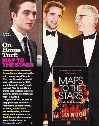 Robert Pattinson and David Cronenberg are the hot couple around Toronto! Maps To The Stars starts soon! - Maps to the Stars | 'Cosmopolis' - 'Maps to the Stars' | Scoop.it