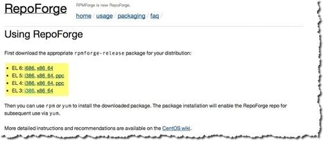 Comment configurer le dépôt RPMForge sous CentOS.   Time to Learn   Scoop.it