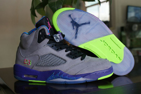 "The Best of Jordan 5 Basketball Sneakers ""Bel-Air"" in Cool Grey and ""Court Purple""-Game Royal-""Club Pink"" for Mens 