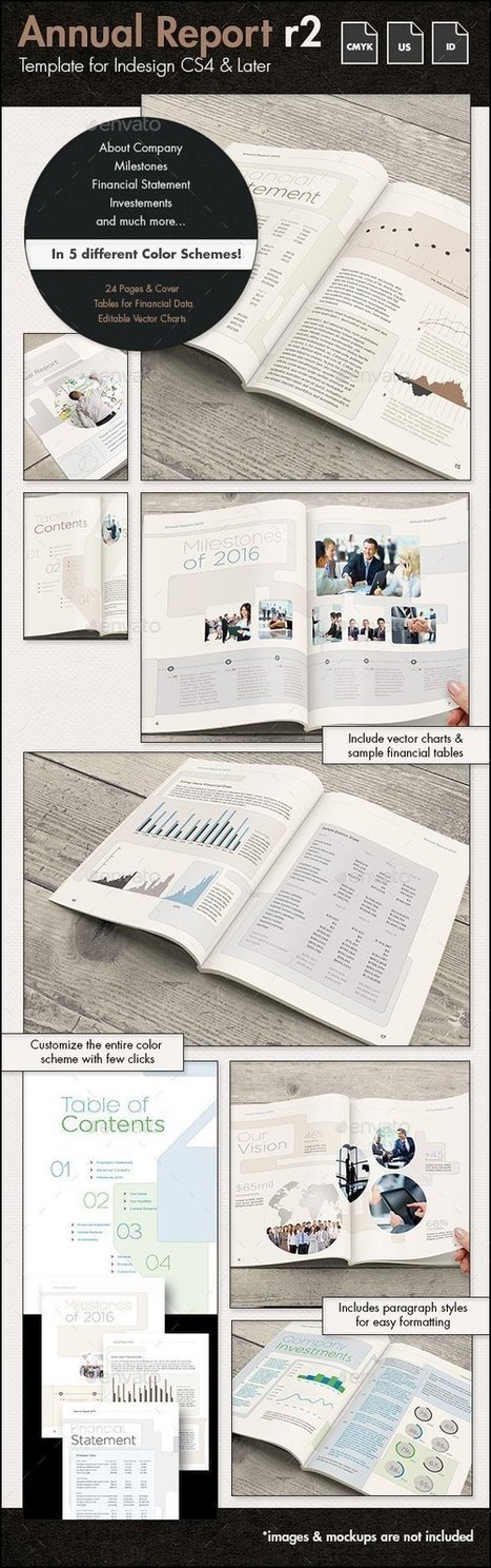 Annual Report Template r2 - US Letter | About Design | Scoop.it