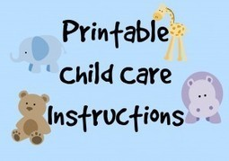 Printable: Child Care Instructions | Printables | Scoop.it
