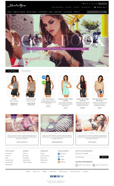 Gala DorBoutique, Fashion Responsive Magento Theme | Premium Download | magento | Scoop.it