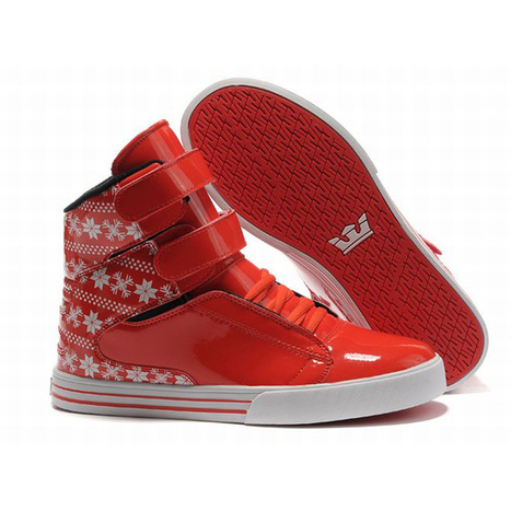 red white pattern supra society leather wrap women skate sneakers | popular list | Scoop.it