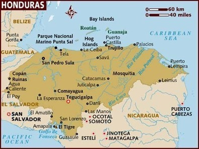 Map of Country   Honduras, Alexa Watts   Scoop.it
