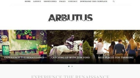 Download Arbutus Responsive Blogger Template Personal - Designsave.com | Blogger themes | Scoop.it