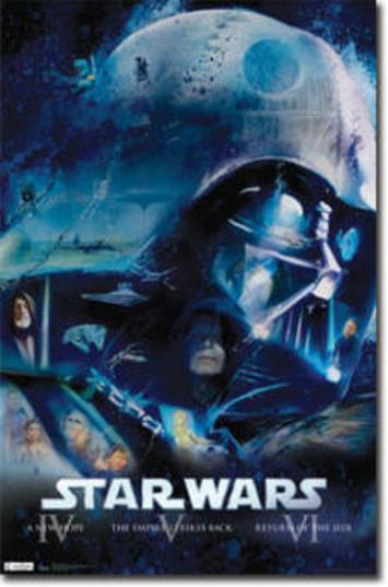 Star Wars Movie Blu Ray Original Episodes Poster Print - 22x34 | Machinimania | Scoop.it