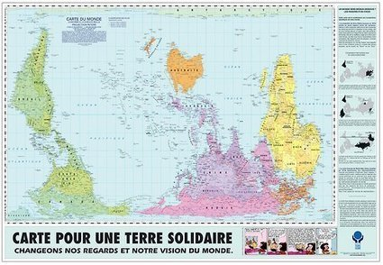 Map for a world of solidarity [1500×1037] CLICK... - thelandofmaps | innovación docente | Scoop.it
