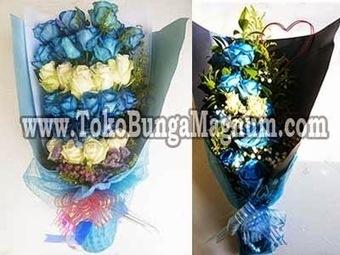 Toko Bunga | Bunga Valentine Bouquet | Bunga Meja: Hand Buket Ulang Tahun Bunga Warna Biru | Toko Bunga | Scoop.it