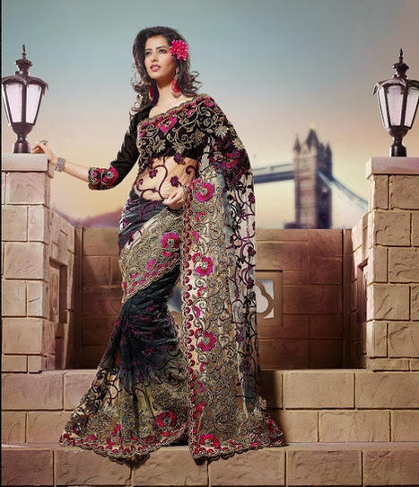 Latest Wedding Sarees, Bridal Wear Sarees for Dulhan 2014 IndianRamp.com | Lacey's Treats | Scoop.it
