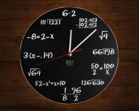 Twitter / IntEngineerings : A clock for nerds! ''Mathematics ... | Add Maths | Scoop.it
