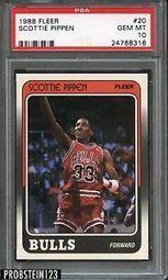 1988 Fleer 20 Scottie Pippen Chicago Bulls RC Rookie HOF PSA 10 Gem Mint | eBay | The Hottest PSA 10 Sports Cards on eBay | Scoop.it