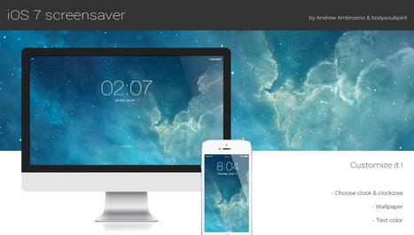 L'écran de verrouillage de iOS 7 s'invite sur OSX avec un écran de veille - Apple Mind | Apple : Mac, iPhone, iPad | Scoop.it