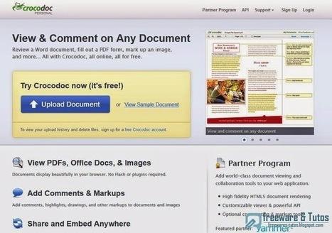 Crocodoc : un service en ligne puissant pour annoter et éditer les fichiers PDF, Word, images | Time to Learn | Scoop.it