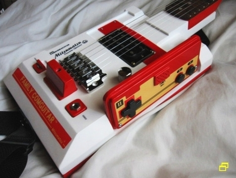 Faimly Comguitar – Guitar made in the shape of 8-bit Nintendo Famicom NES console | DamnGeeky | DamnGeeky | Scoop.it