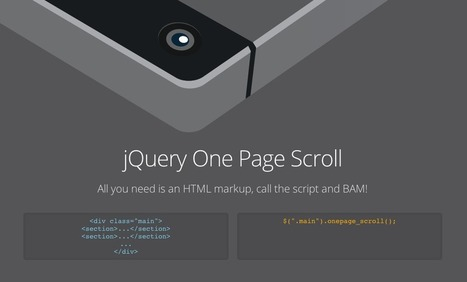 jQuery One Page Scroll by Pete R. | The Pete Design | Web Design | Scoop.it