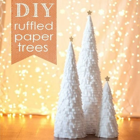 DIY Ruffled Christmas Trees | DIY - Parties, Decor, & Crafts | Scoop.it