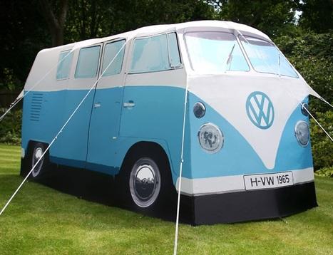 Une tente réplique du mythique combi Volkswagen | Volkswagen Beetle | Scoop.it