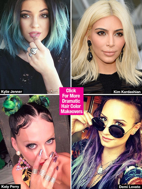 Kylie Jenner, Kim Kardashian & More: Dramatic Hair Color Makeovers - Hollywood Life | Hair There and Everywhere | Scoop.it