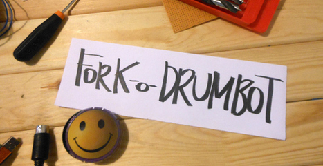 Fork-o-Drumbot: A MIDI Drummer! | Makers | Scoop.it