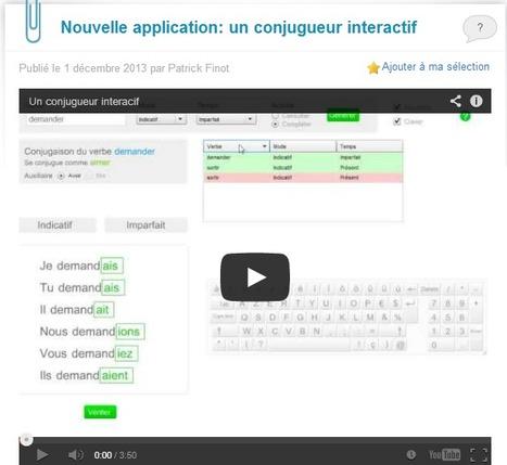 Conjugeur interactif | Resources pour apprendre Français | Scoop.it
