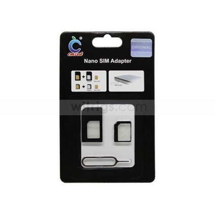 Nano SIM Card Adapter with Ejector Pin for Apple iPhone 5 Black   Gadgets & Professional Repair Tools for smartphones   Scoop.it