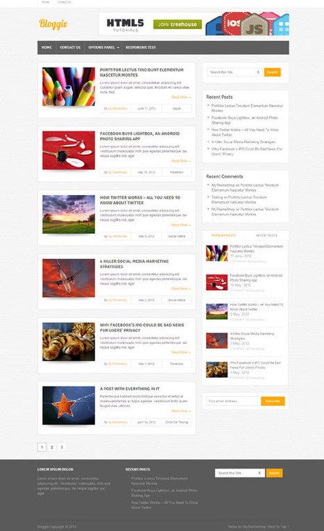 Bloggie, Free Responsive Blog WordPress Theme   Free WordPress Themes VR   Scoop.it