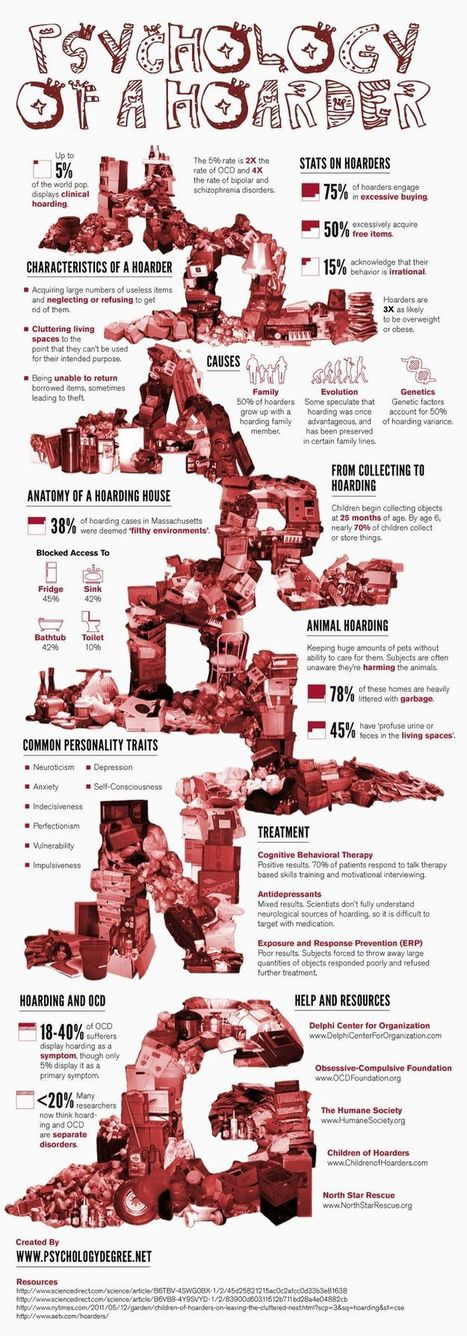 The Fact on Hoarding & Hoarders - Infographic - Digital Bus Stop | Meth Lab  Decontamination to Helping Hoarders | Scoop.it