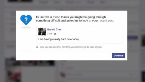 Facebook reaching out to users who might be suicidal | Peer2Politics | Scoop.it