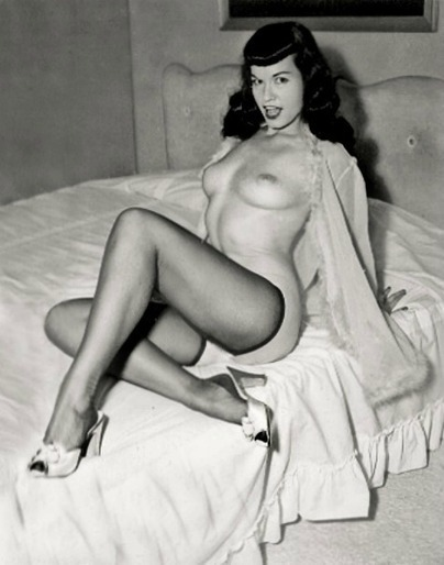 Bettie Page :: Note the same bed as the my previous post (Both...   Busty Boobs Babes   Scoop.it