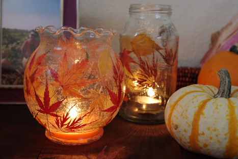 Fall Leaf Lanterns {Tutorial} - Happiness is Homemade | Android école primaire | Scoop.it