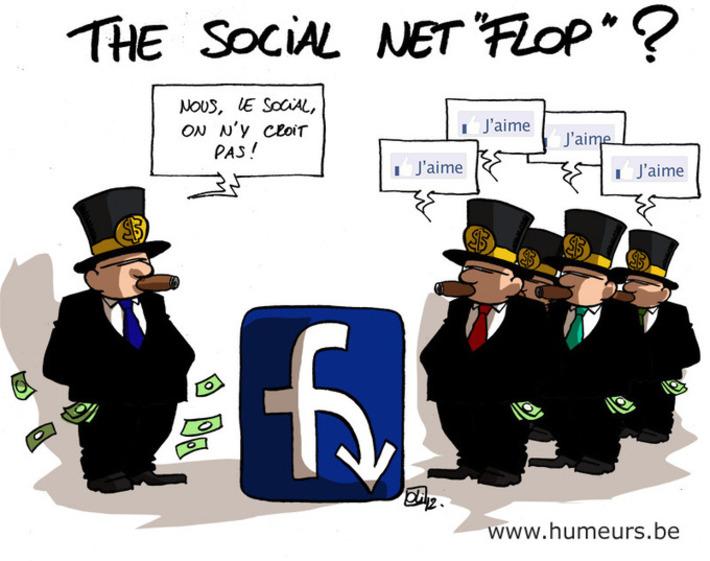 Facebook en bourse : -13% ! | Baie d'humour | Scoop.it