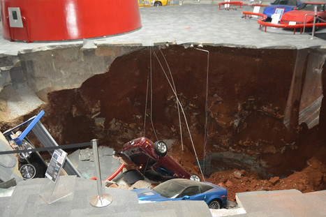 Three Corvettes rescued from sinkhole in Kentucky | Upsetment | Scoop.it