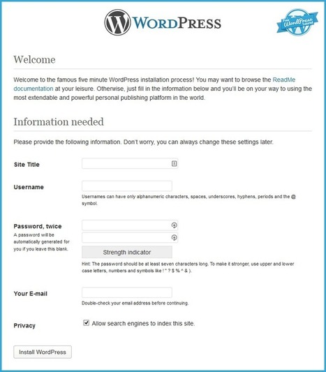 Install WordPress in 5 Minutes- Detailed WordPress Tutorial | WordPress-Tutorial | Scoop.it