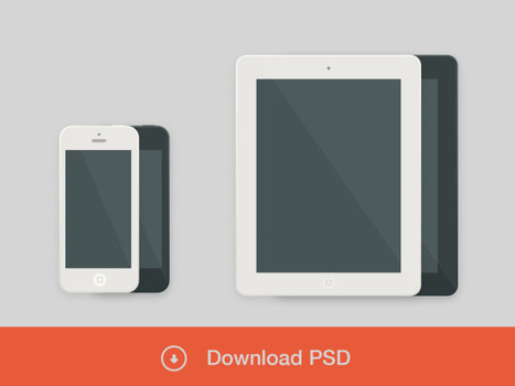 Download iPad / iPhone Free PSD | PSD.co | Download PSD And Free PhotoShop Tools | Smart Phone Dominating | Scoop.it