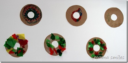 Christmas craft for kids: Christmas Wreath | Simple Christmas | Scoop.it