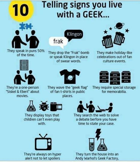 GEEKerly - 10 tellings sings you live with a geek | VI Geek Zone (GZ) | Scoop.it