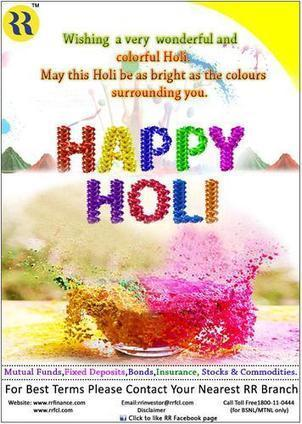 Belated Happy Holi to All - rrfinance | Fixed Deposit Schemes | Scoop.it
