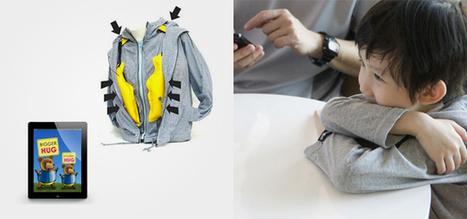 Hug simulation jacket lets parents calm kids via mobile devices | Technologies for Social Good | Scoop.it