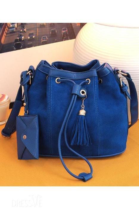 Polished Patchwork Tassel Pu Leather Shoulder Bag | Dressve fashion | Scoop.it