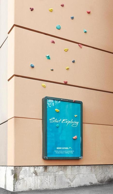 un panneau d'affichage est transformé en mur d'escalade géant | ALAN 9 Communication | Scoop.it