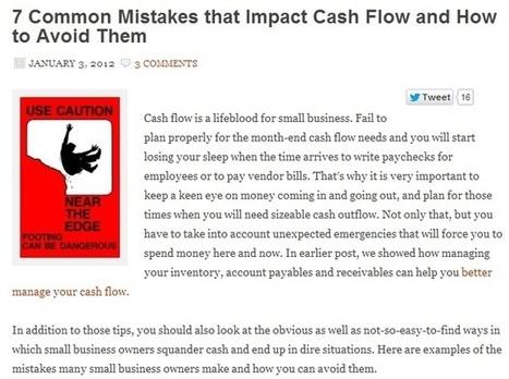 Business Pointers: Common Mistakes that Affect Cash Flow Management   Cash Flow Mojo Software   Scoop.it