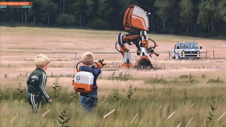 Robots, dinosaures et friches : un artiste suédois revisite les années 1980   Merveilles - Marvels   Scoop.it